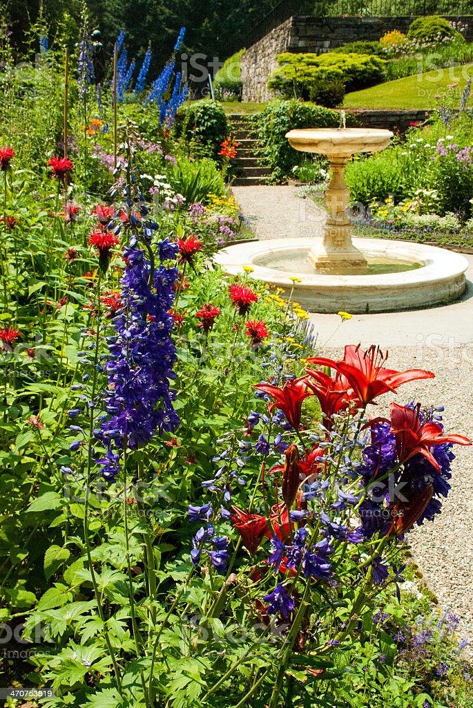 Jardines Flores Y Peatonal De Vermont Woodstock - Fotografía de ...