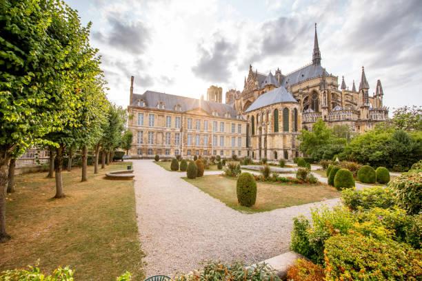 Gärten in der Stadt Reims, Frankreich – Foto
