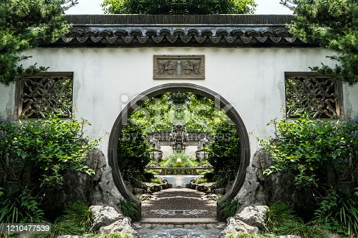 Gardens in Old City of Shanghai, China
