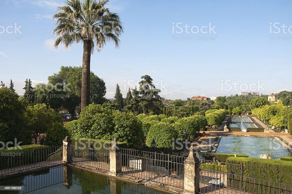 Gardens in the Alcazar of Christian Monarchs, Cordoba (Spain) stock photo