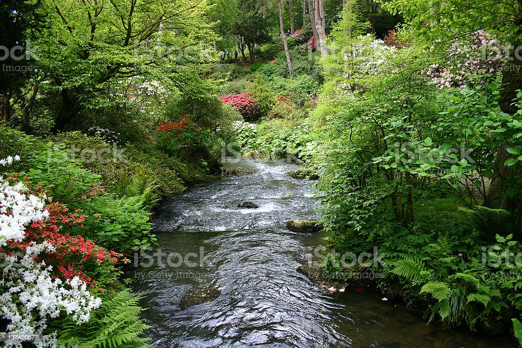 Gardens North Wales UK stock photo
