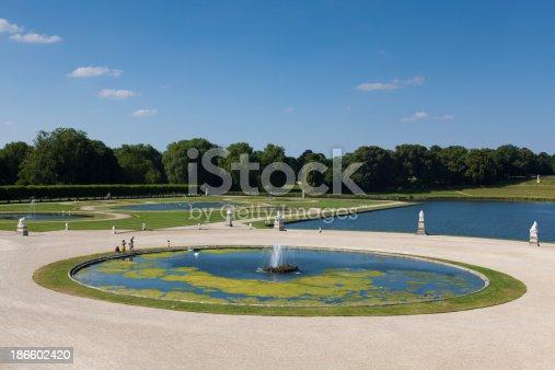 istock Gardens of Chantilly castle 186602420