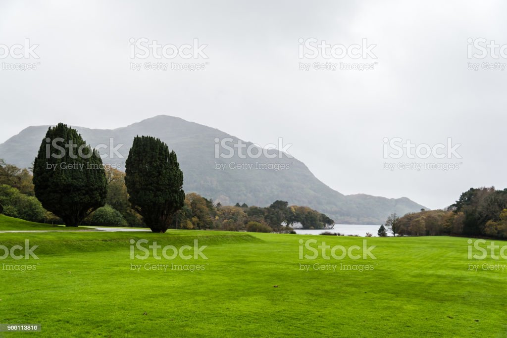 Tuinen van Muckross House in Ierland - Royalty-free Beroemde plaats Stockfoto