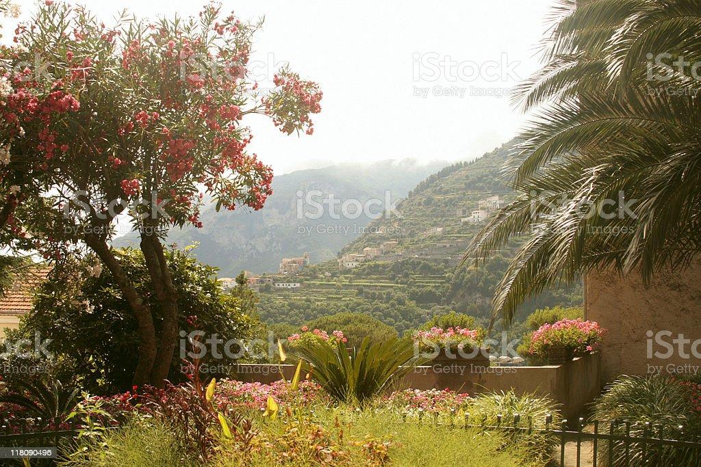 Gardens of Ravello, Italy - Amalfi Coast stock photo