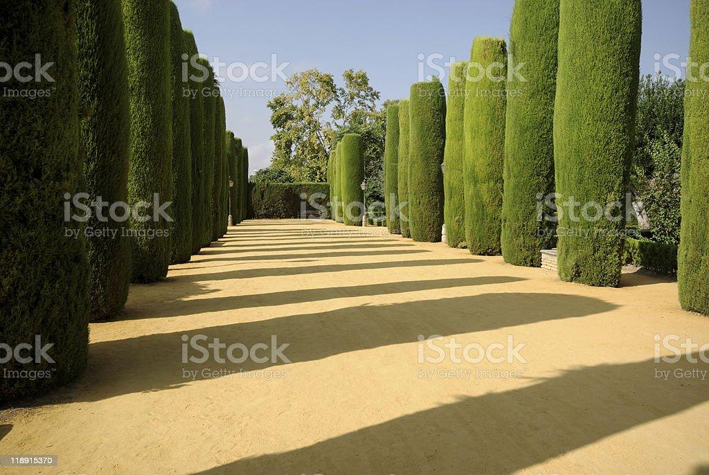 Gardens of the Alcázar de Córdoba stock photo