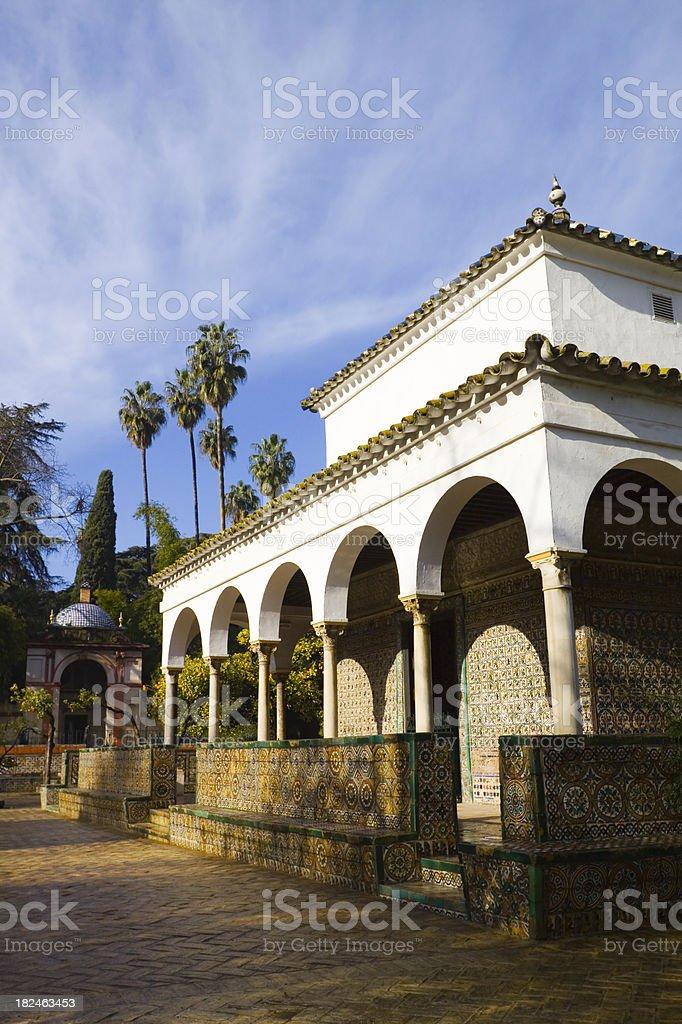 Gardens of the Alcazar Seville royalty-free stock photo