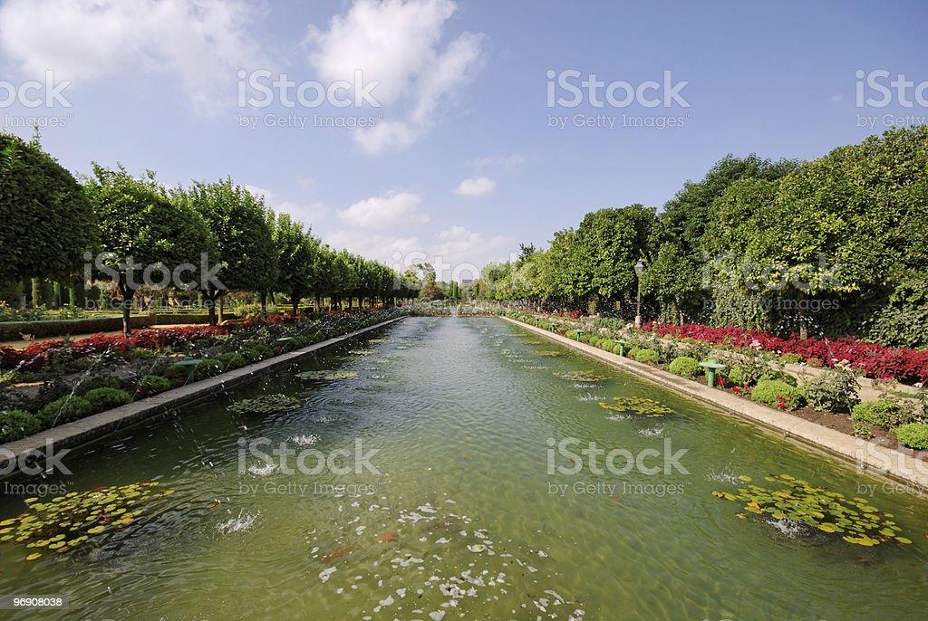 Gardens of the Alcázar de los Reyes Cristianos. Córdoba royalty-free stock photo