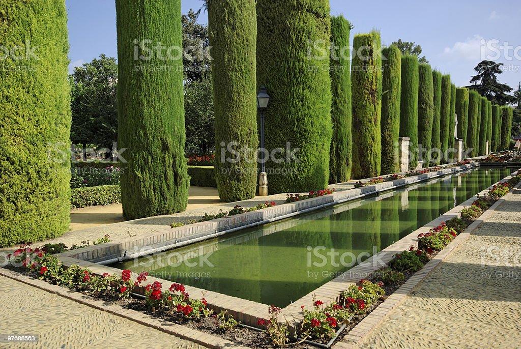 Gardens of the Alcázar de los Reyes Cristianos. Córdoba stock photo