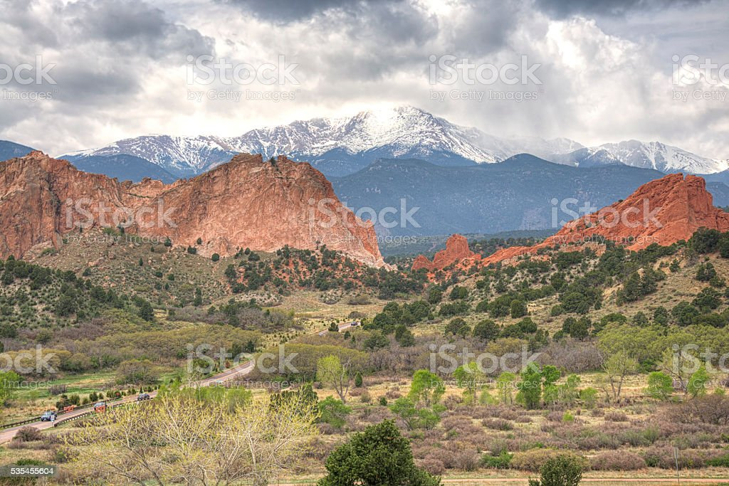 Gardens of the Gods, Colorado Springs, USA stock photo
