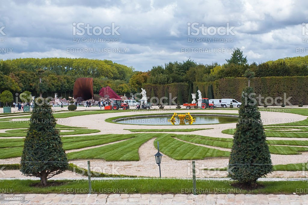 Gardens of The Palace Versailles. France. stock photo