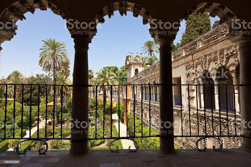 Gardens of the Royal Alcazar, Seville, Spain royalty-free stock photo