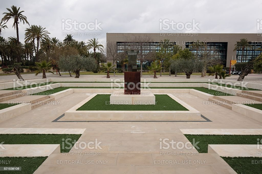gardens of the Universidad Miguel Hernández de Elche. stock photo