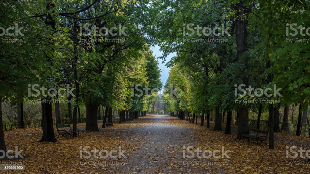 Gardens of the Vienna Summer Palace stock photo