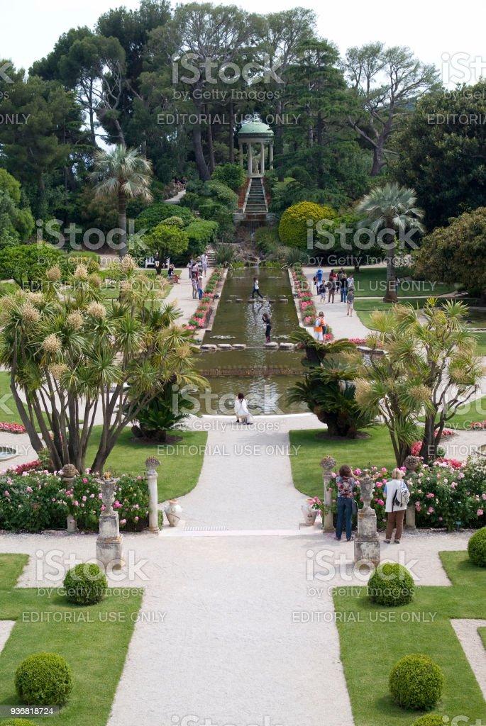 Gärten Der Villa Ephrussi De Rothschild Stockfoto und mehr Bilder ...
