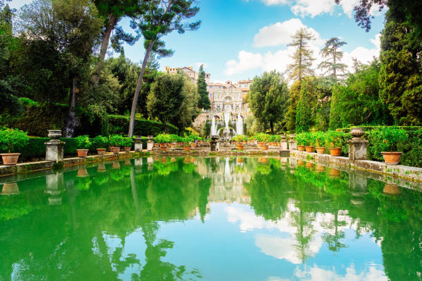 Gardens Of This, Italy stock photo