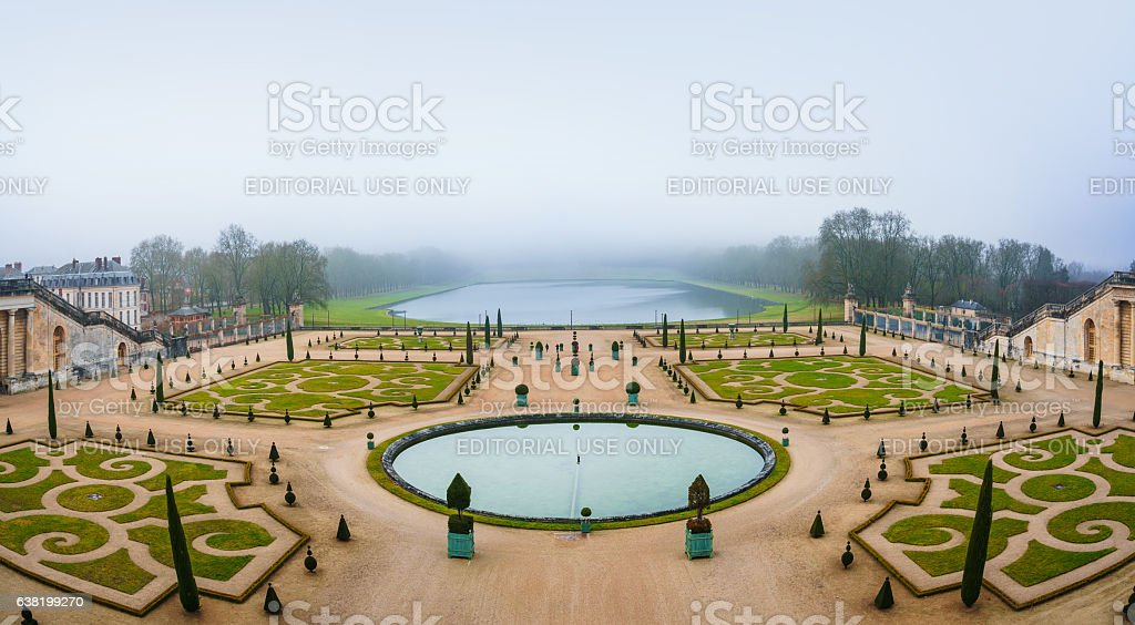 Gardens of Versailles Apollo Fountain stock photo