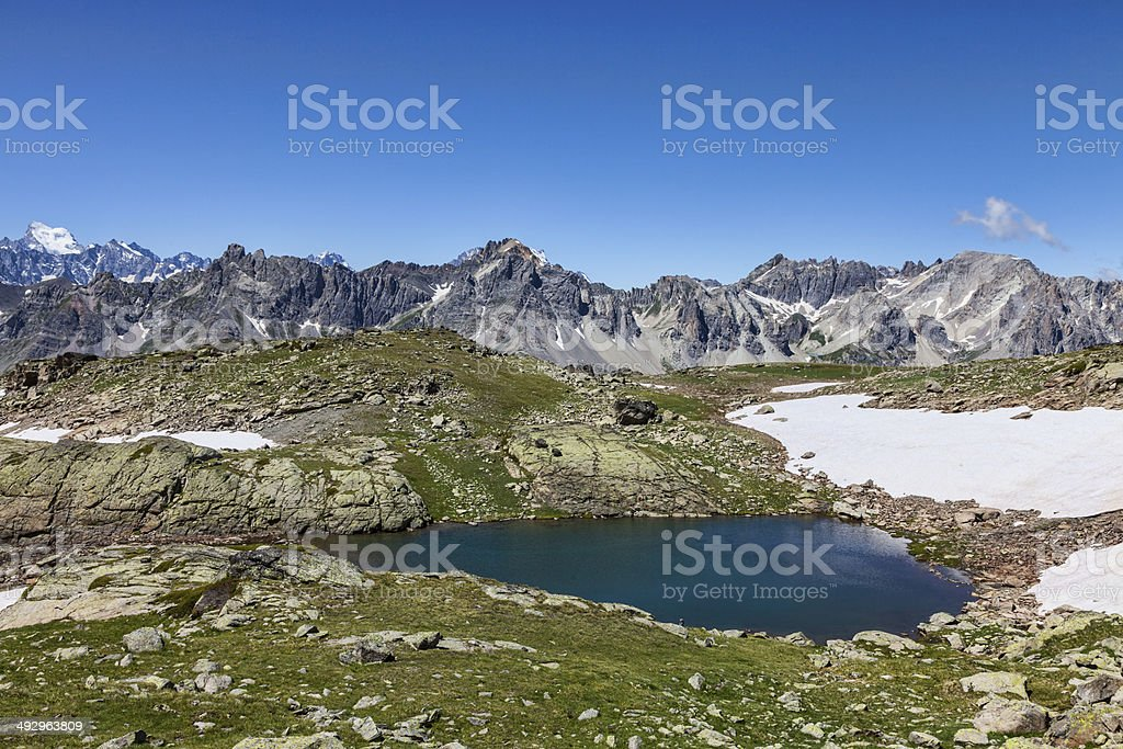 Gardioles Lake stock photo