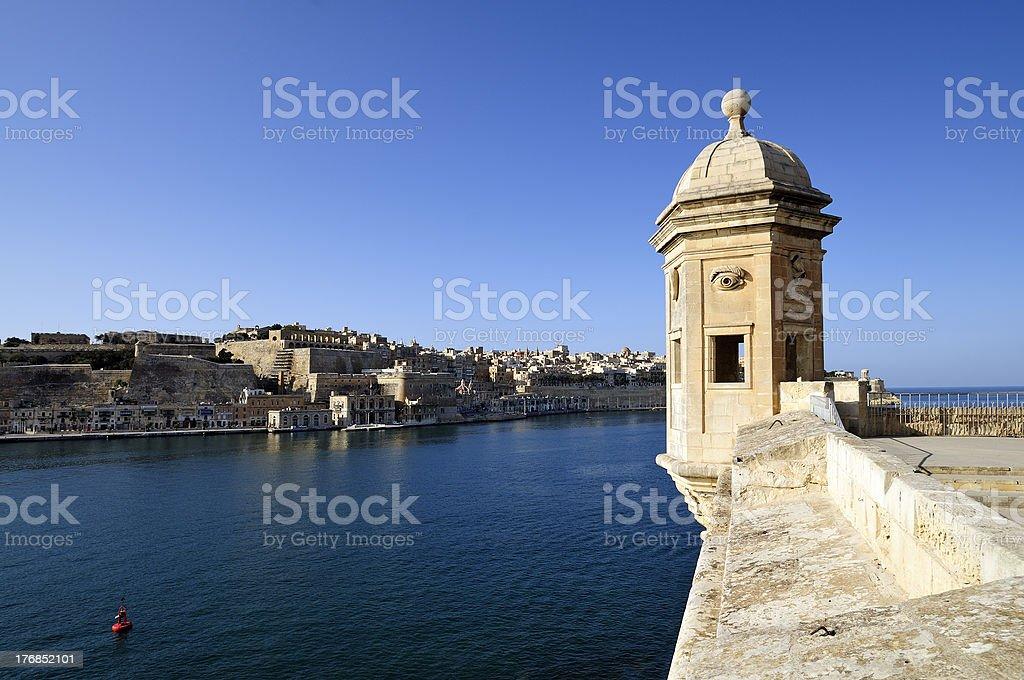 Gardjola lookout overlooking Valletta stock photo