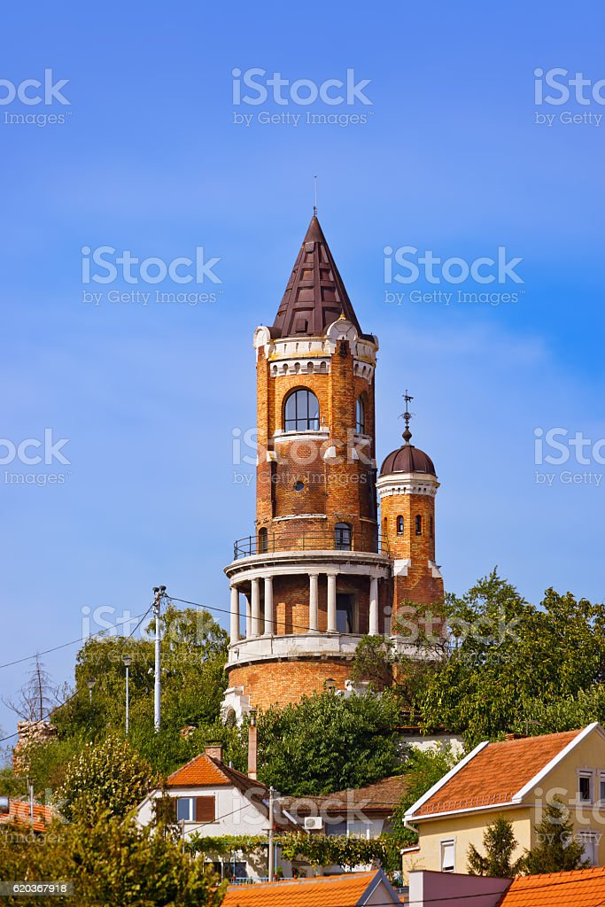 Gardos Tower in Zemun - Belgrade Serbia zbiór zdjęć royalty-free