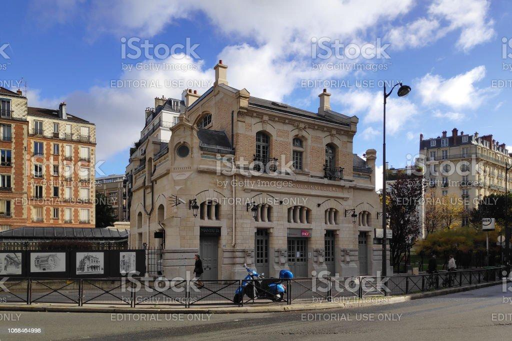 Gare de Boulainvilliers in Paris stock photo