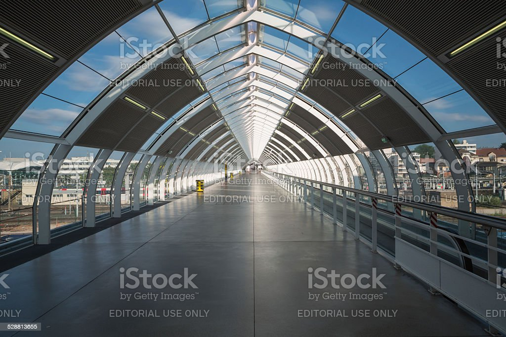 Massy, France - June 15, 2014: Gare de Massy stock photo