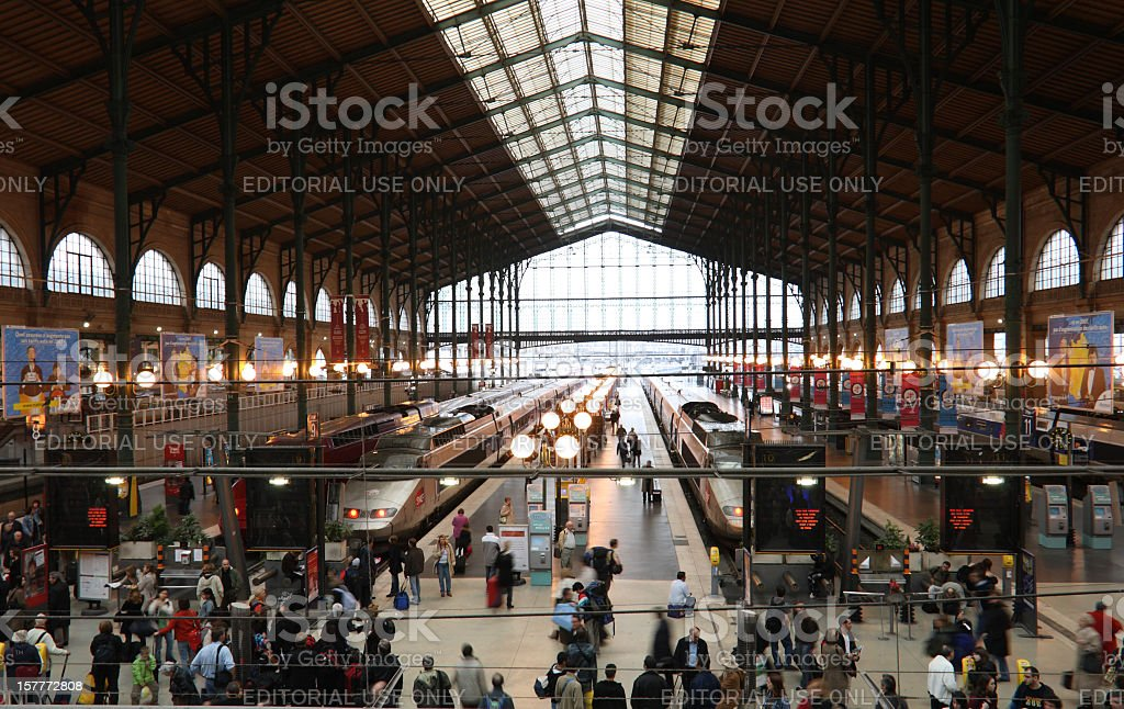 Gare du Nord - North Station, Paris stock photo