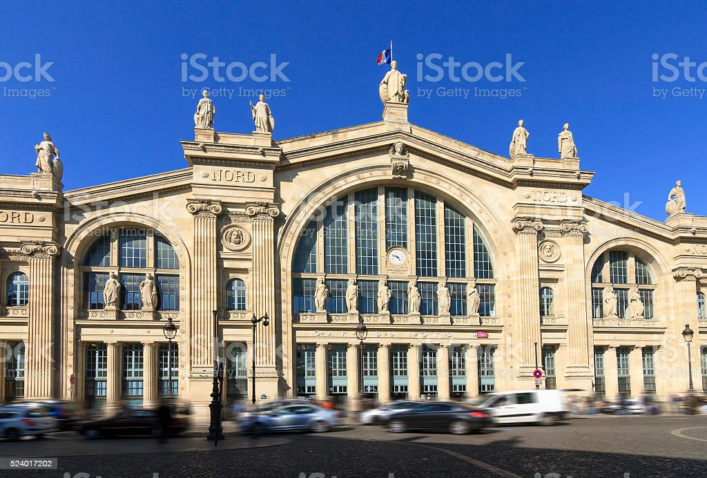 Gare du Nord Paris stock photo