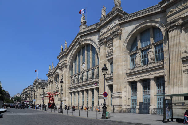 Gare du Nord railway station in Paris, France stock photo