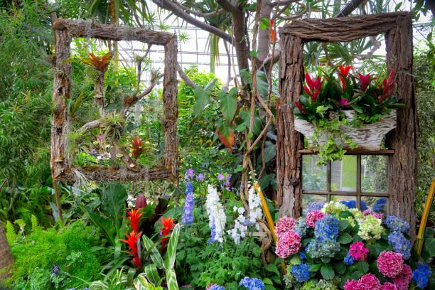 garen greenhouse stock photo