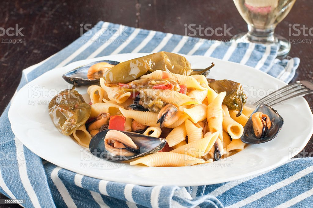 Garganelli royalty-free stock photo