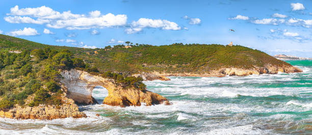 Gargano coast: San Felice arch stock photo