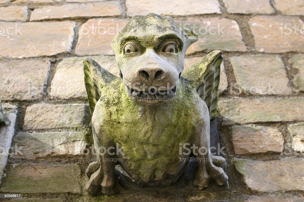Gargling Gargoyle stock photo