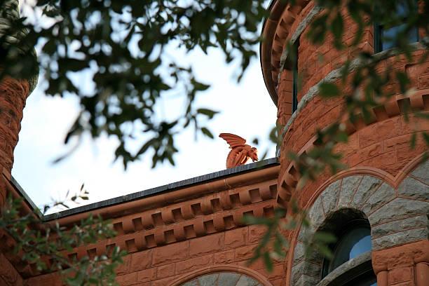 Gargoyle atop the old Dallas County Courthouse