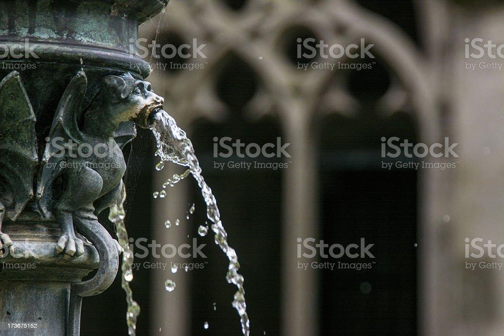 Gargoyle fountain Gothic Dom Church Utrecht 3 stock photo
