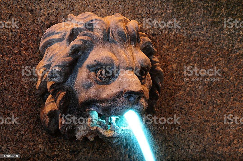 Gargoyle fountain, Jersey. royalty-free stock photo