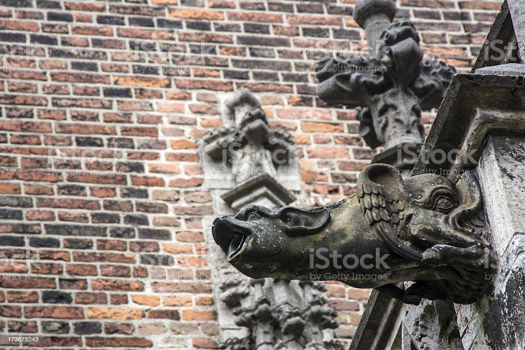Gargoyle Gothic Dom Church Utrecht 2 stock photo