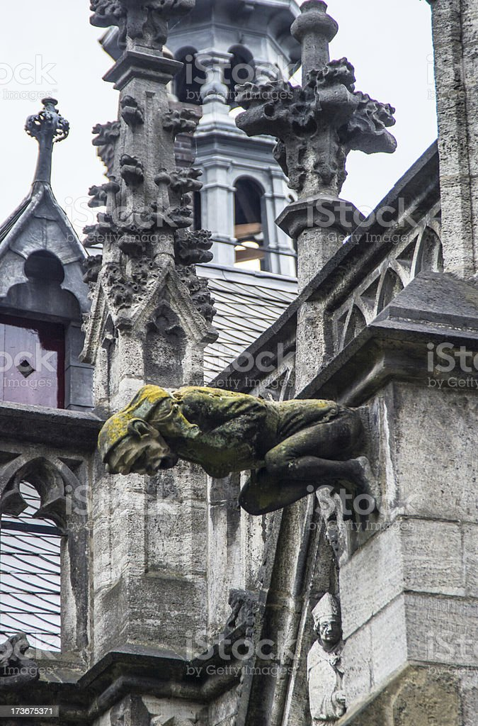 Gargoyle Gothic Dom Church Utrecht 6 royalty-free stock photo