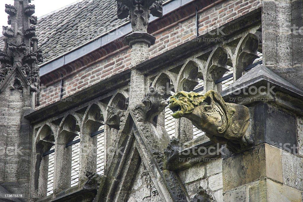 Gargoyle Gothic Dom Church Utrecht 9 stock photo