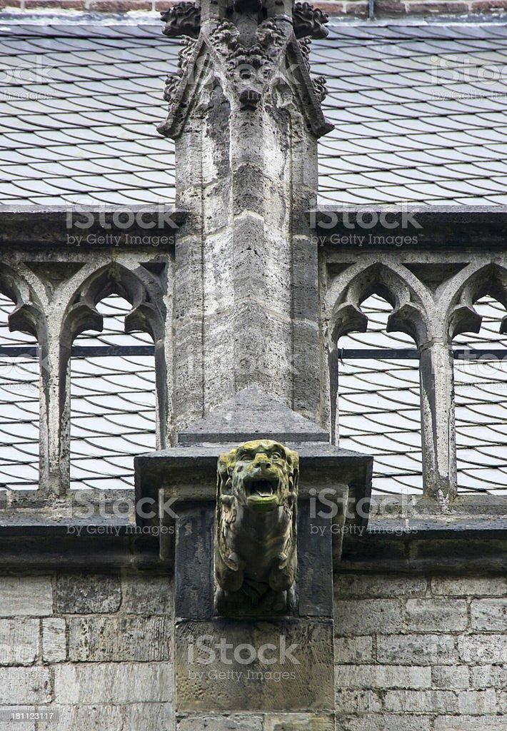 Gargoyle Gothic Dom Church Utrecht stock photo