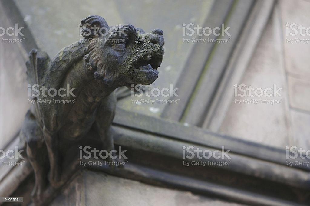 Gargoyle, Manchester Town Hall royalty-free stock photo