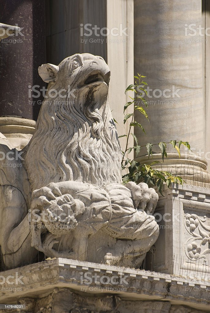 Gargoyle on Side of Basilica di San Marco stock photo