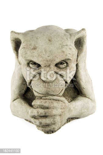 Picture of an old gargoyle