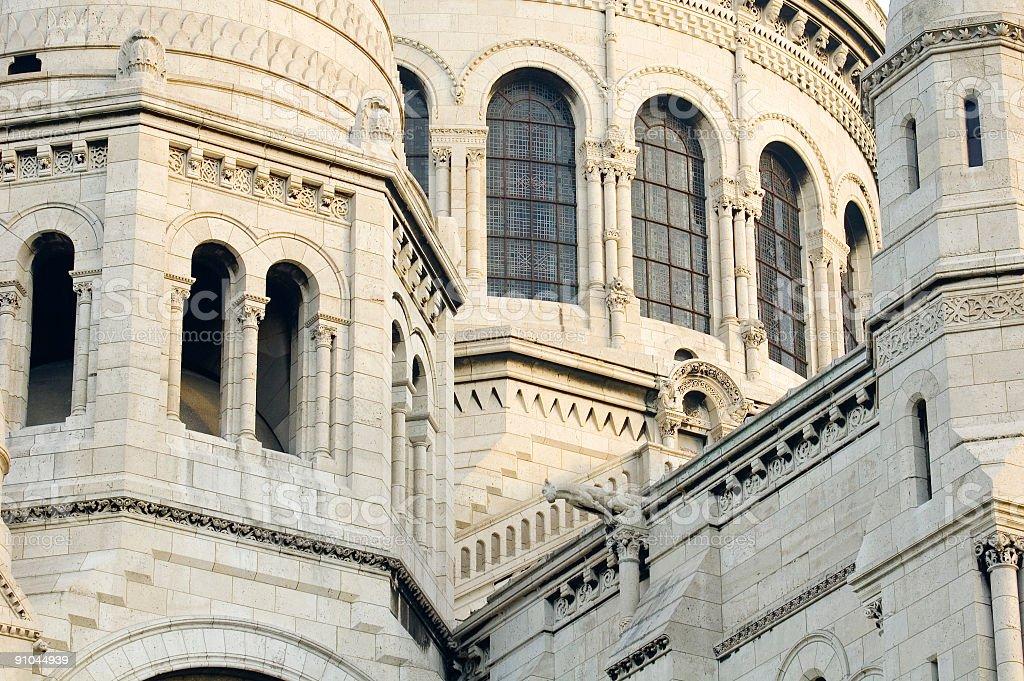 Gargoyles and arches Paris royalty-free stock photo