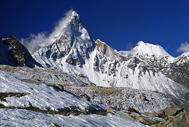 Garhwalu Himalayas in India. stock photo