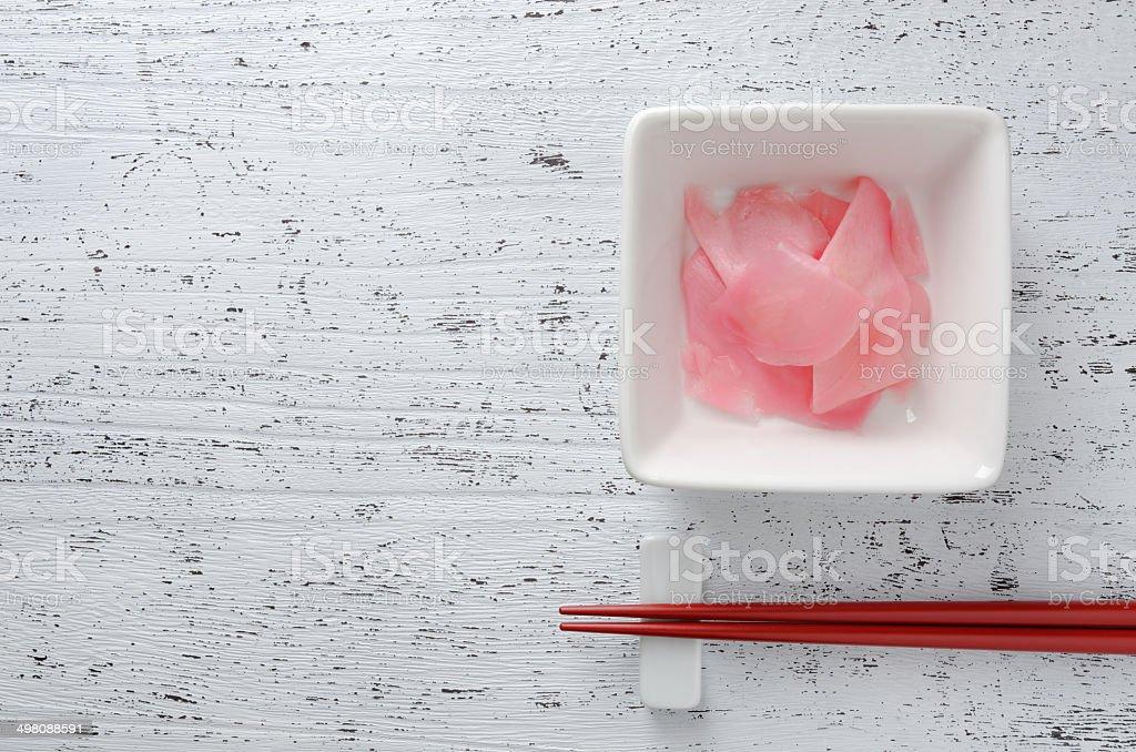 Gari ( sushi ginger ) stock photo