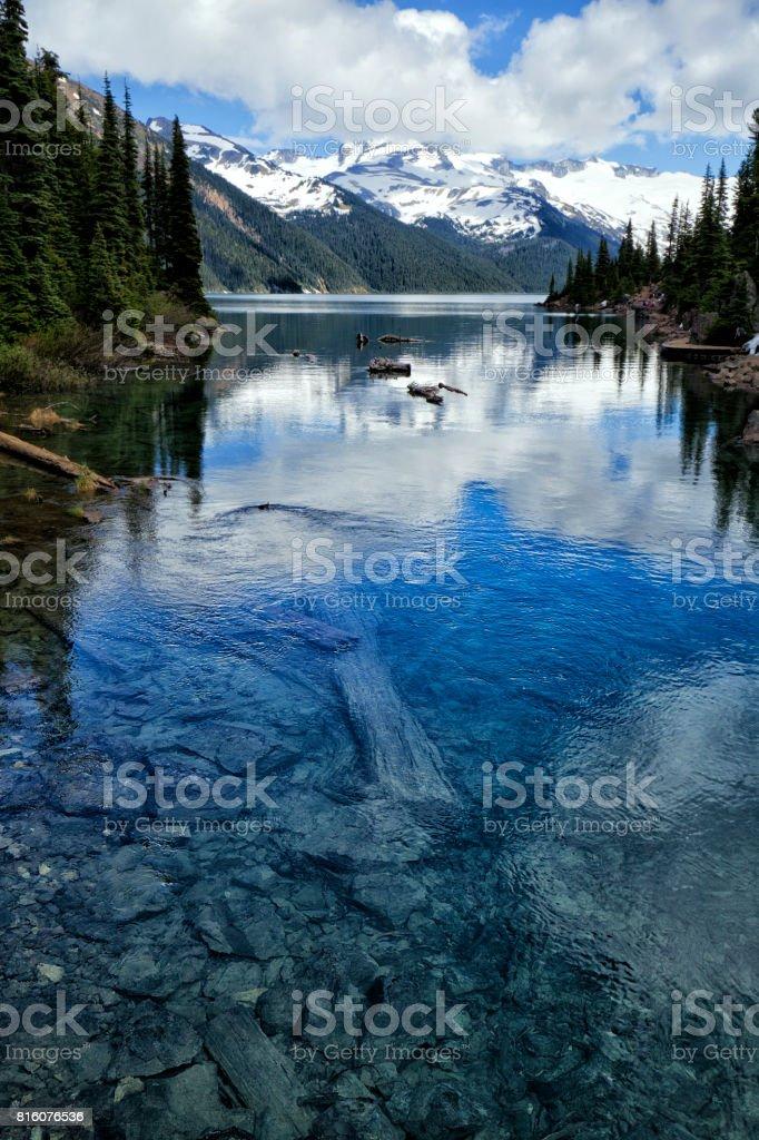 Garibaldi Lake in summer, BC, Canada stock photo
