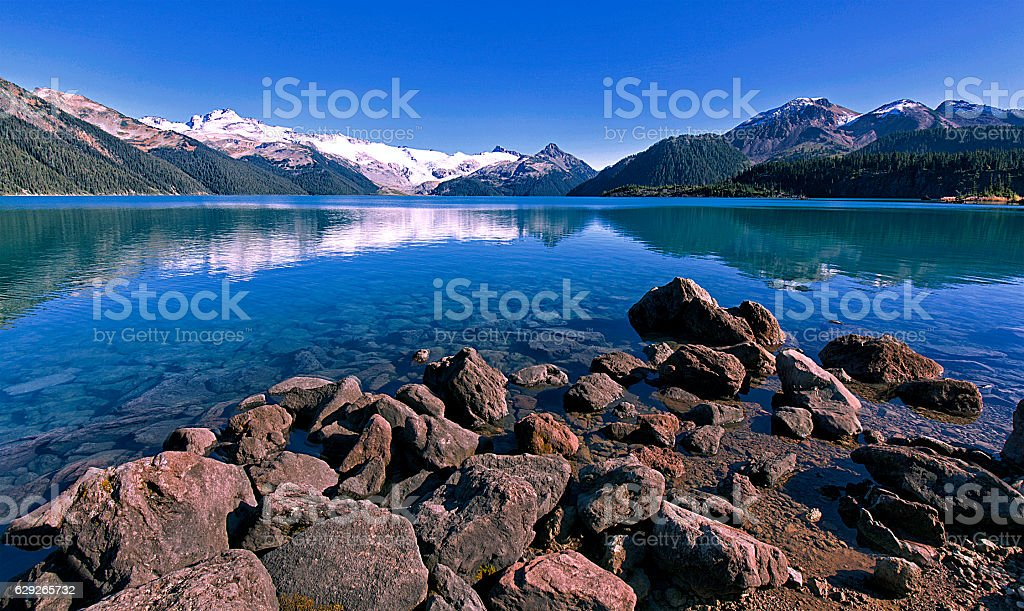 Garibaldi Lake in summer,BC,Canada stock photo