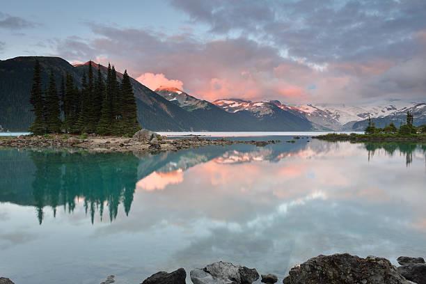 Garibaldi Lake Sunset stock photo
