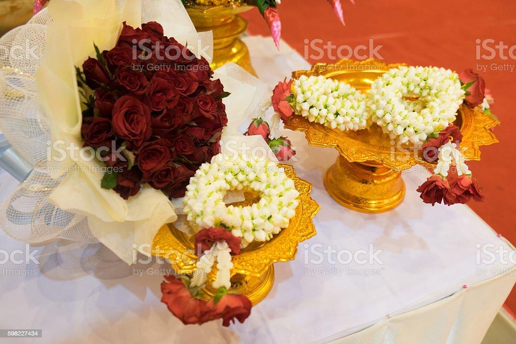 Guirlanda de flores em estilo tailandês foto royalty-free