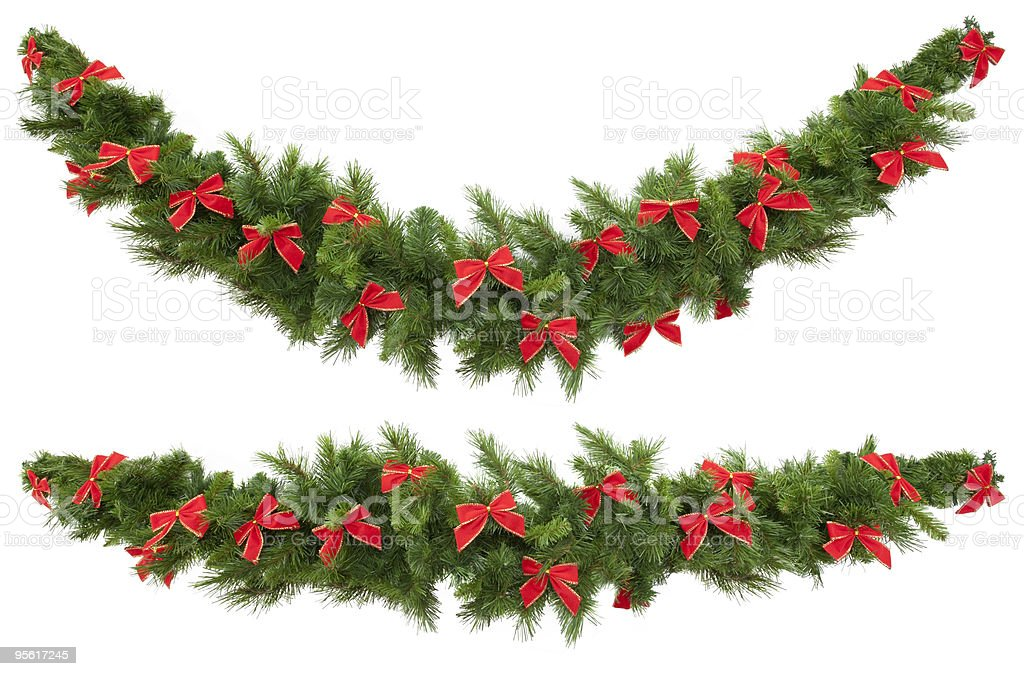Garlands with Bows stock photo